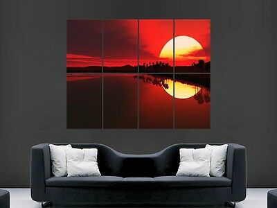 Beautiful Sunset  Huge Large Wall Art Poster Picture Print