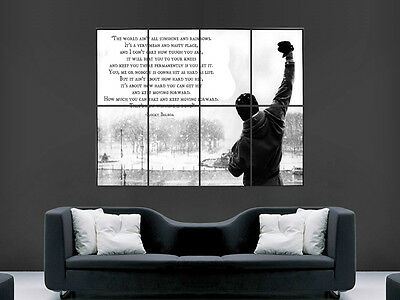 Rocky Bilboa Classic Movie Quote Boxing Wall Poster Art Picture Print Large
