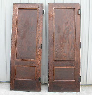 2 1900 1910 Large OLD OAK FINISH HOME HOUSE ARCHITECTURAL DOOR DOORS CAN BE CUT