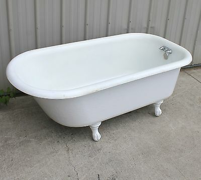 Dated 1930 American Standard White Porcelain Cast Iron 5Ft Claw Foot Bath Tub