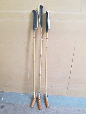 Vintage Bamboo Salter & Son Aldershot Polo Mallets X 3 - 2 x 50 - 1 x 52.