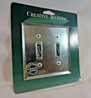 NEW Creative Accents Beveled Mirror 2 Toggle Decorative Wallplate