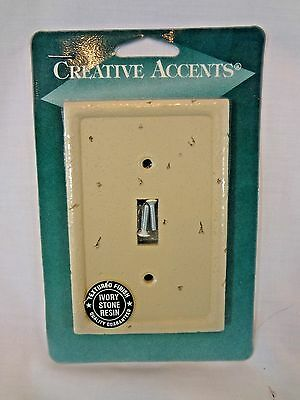 NEW Creative Accents Ivory Stone Rein Light Switch Toggle Wall Plate