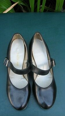 Star Styled Black Clogging Tap Shoes Women Size 7 M