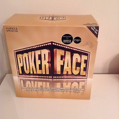 New M & S Poker Face Game
