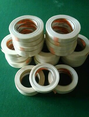 """30 Tuck Tape Rolls Reinforced Strapping Packing Tape 3/4"""" x 30 Yds New"""