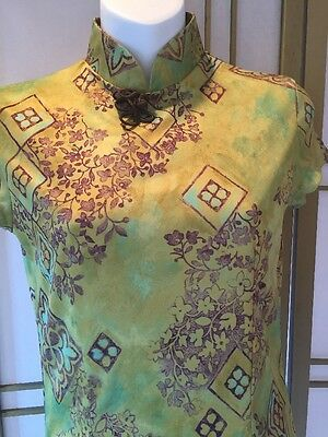 Elegant Traditional Chinese Style Shanghai Brown/green Dress Costume Theatre