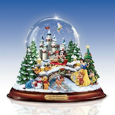 An Old Fashioned Christmas Figurine Waterglobe - Disney - Bradford Exchange