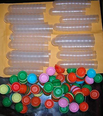 """200 Empty One Inch 1"""" Vending Capsules Acorn 1 Inch,assorted Color Lids Carnival"""