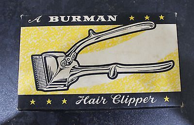 Vintage Hair Clipper by BURMAN. 1950's Made in England - Boxed