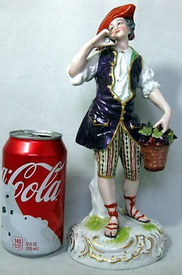 "Antique Large 19th Century Limbach German Porcelain Figurine 10"" tall"