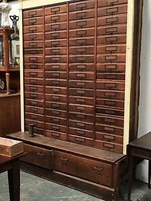 Antique Apothecary, Hotel, Postal, File, Arts & Crafts, Store Cabinet