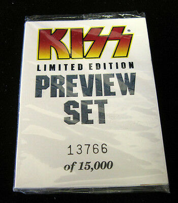1997 Cornerstone Kiss Limited Edition Preview Set (9)