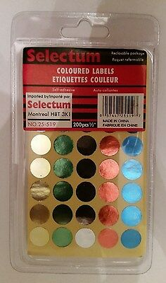Coloured Labels (Round)