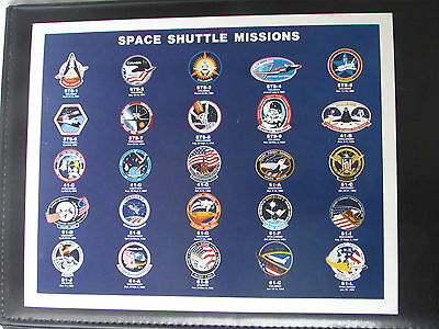NASA Space Shuttle First 25 Mission Insignia Photo 8 x 10 Photograph