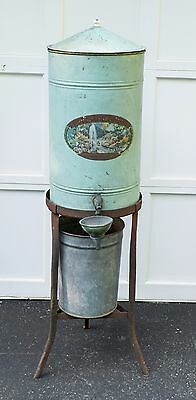 Antique Woodland Spring Sanitary Drinking Fountain Bubbler