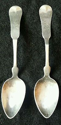 Pair of Coin Silver Spoons E. Mead & Co. St. Louis Missouri