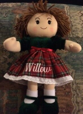 """Personal Creations Christmas Cuddle Rag Doll - Willow 15"""""""