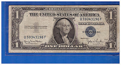 1935 D One Dollar  Silver Certificate Paper Money $1 Bill Currency  LK397