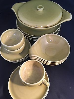Vintage Lot Of Russel Wright Steubenville Chartreuse Dinner Ware