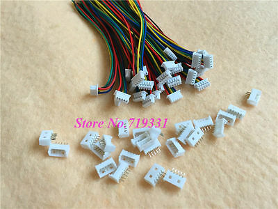 20Sets x Micro JST 1.25 5-Pin Female Connector Plug w/ Wires Cables & Male plug