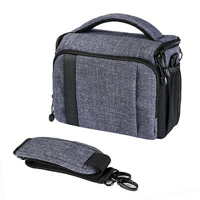 Waterproof DSLR Camera Carry Shoulder Bag Case for Canon Nikon Sony w Rain Cover