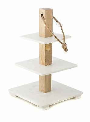 NEW 'CASA UNO' Three Tier Marble Cake Stand  RRP$179.95