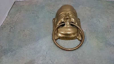 Vintage Brass Buddha Door Knocker