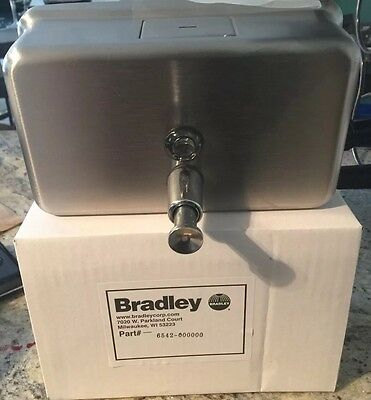 NIB Bradley Liquid Soap Lotion Dispenser 6542 Surface Mount Stainless Steel