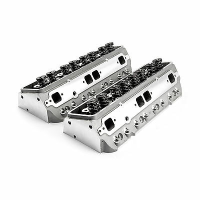 Chevy SBC 350 190cc 64cc Angle Hydr-FT Complete Aluminum Cylinder Heads