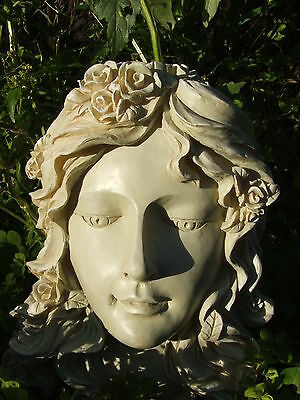 Beautiful Angel Face Garden Ornament.latex Mould/moulds/mold