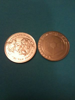 2 Star wars revenge of the sith coins set ai