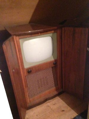 Antique Vintage TV In Cabinet