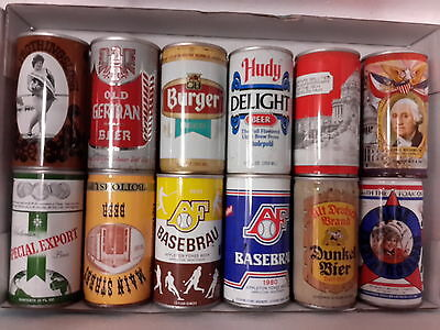 12 Different American Steel Beer Cans ( Lot H)