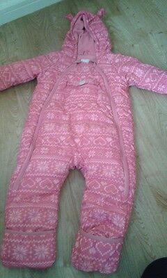 Girls Reserved snowsuit size 80 cm