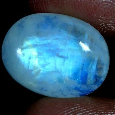 14.05Cts RAREST 100% NATURAL CHATOYANT RAINBOW MOONSTONE OVAL CABOCHON GEMSTONES