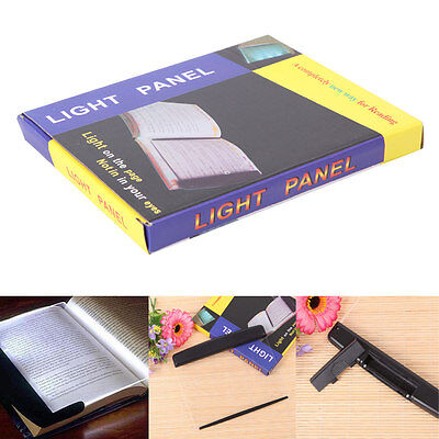 Night Vision Panel Page Portable LED Book Light Wedge Bed Time Reading Lamp