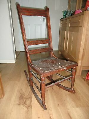Vintage Wooden Rocking Chair - Project @100 yrs old - shabby chic nursing chair