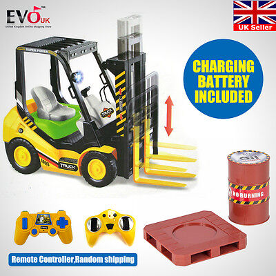 New Kids Toy RC Remote Control Forklift With Sounds Lights Electric Gift