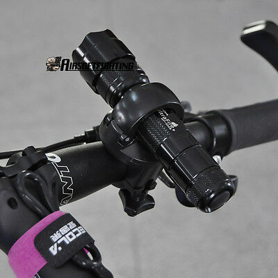 Rotation Torch Clip Mount Bike Bicycle Front Light Bracket Flashlight Holder