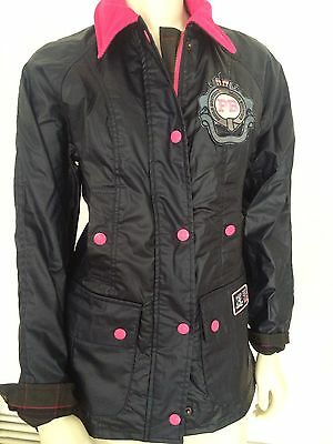 Pauls Boutique Jacket Size XS Approx. age 11 - 12 years Navy Blue Coat New