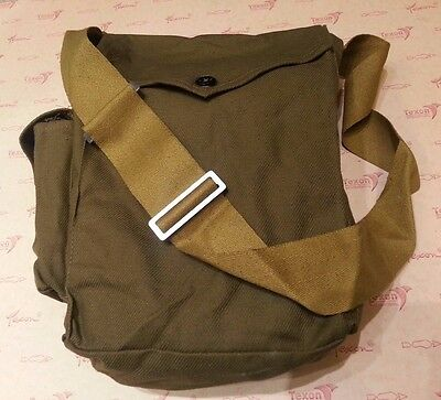 Vintage Soviet USSR Russian Gp-7 Gas Mask Canvas Carrier Кhaki Bag Military Army