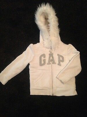 Gap Girls Thick Winter Zip Up Hooded Jacket Age 4 Years