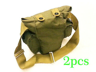 New Vintage soviet USSR Russian Gp-5 Gas Mask Canvas Carrier Bag Military Army