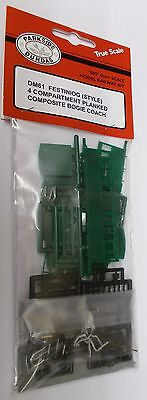 Parkside Dundas 009 DM61 - Ffestiniog Style 4-Comp Bogie Coach Kit - New (009)