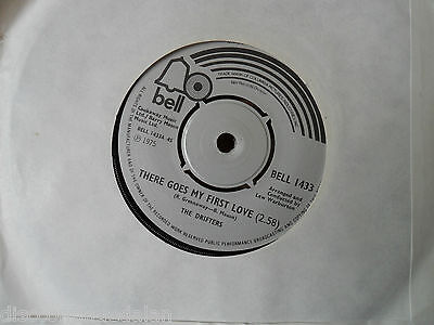 """The Drifters.there Goes My First Love.bell.7"""" Vinyl Single.45Rpm"""