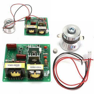 AC 110V 100W 40KHz Ultrasonic Cleaner Power Driver Board with 60W 40K Transducer