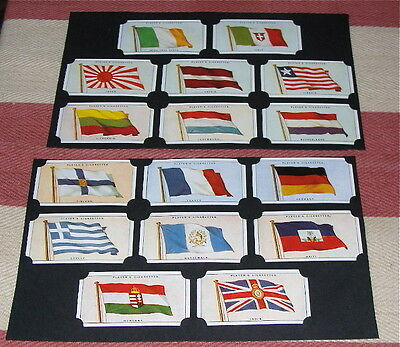 """Set of repro. cigarette cards """"FLAGS of the LEAGUE of NATIONS"""" PLAYERS 1928[C72]"""
