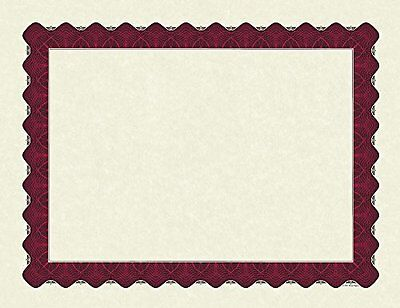 """Great Papers! Metallic Red Border Certificate, 8.5""""x 11"""", 100 Count (934100)"""