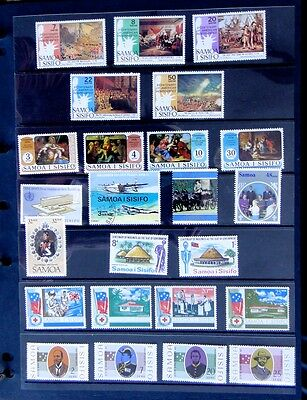 5 x page collection - Samoa stamps